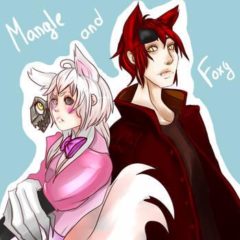 Foxy and Mangle - Five Nights at Freddy by Pangashka