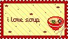I Love Soup stamp by Valentine-Black