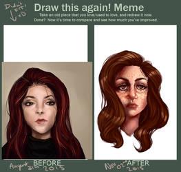 Draw this again meme! by kedostini