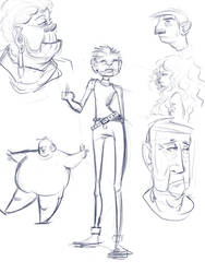 People sketching dump by kedostini
