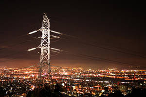A city aglow by waphle