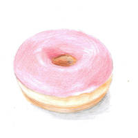 Pink Donut by flamingofire123