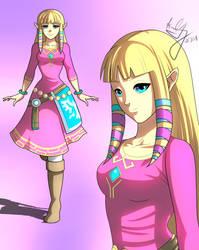 Skyward Sword Zelda by GuySanX