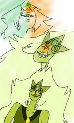 Jade [Jaspidot fan fusion] by MagicalToastPrincess