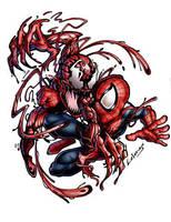spiderman vs carnage by LOLONGX