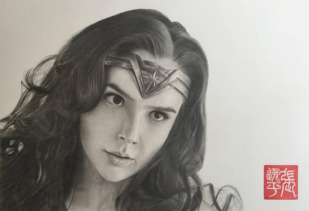 Wonder Woman (Gal Gadot) Portrait by yipzhang5201314