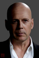 Bruce Willis Portrait by yipzhang5201314