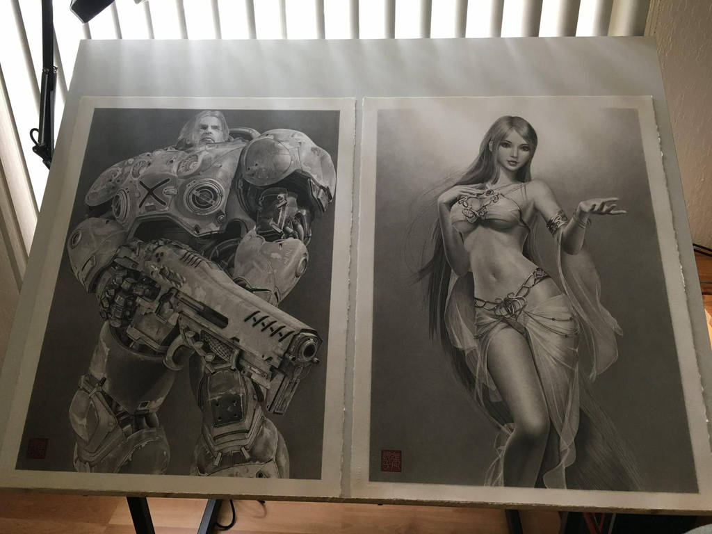 My Two Best Drawings by yipzhang5201314
