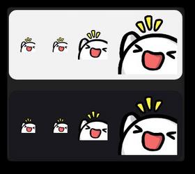 Twitch Emote - pkingHype by PeekingBoo