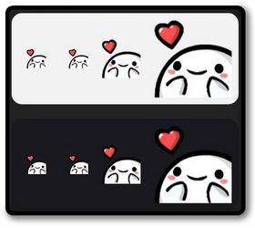 Twitch Emote - pkingLove by PeekingBoo
