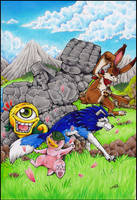 Monster Rancher Commission by Lumary92