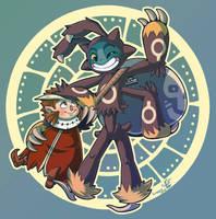 Owlboy Fanart: Owlboy And Spiderguy by Lumary92