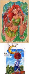 2017 Fb Sketchbookdoodles 1 (+ digital doodle...) by Lumary92