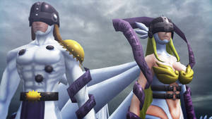 Angemon and Angewomon (CyberSleuth) by GuilTronPrime
