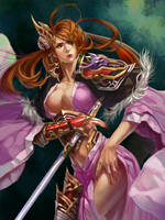 Female warrior - Color by XiaoBotong