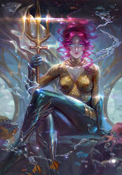 Aquaman  Female version by XiaoBotong