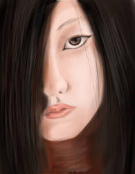 Asian girl, WIP2 by C-J-P