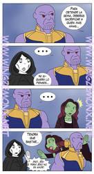 Infinity War - Thanos y su persona mas amada by WingzemonX