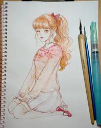 Pink salt knit by eliz7