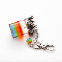 Royal Rainbow in a Bottle keychain by FrozenNote