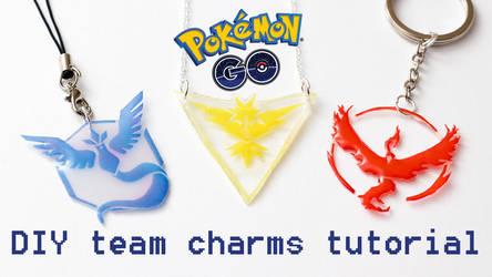 Pokemon GO DIY team charms tutorial by FrozenNote