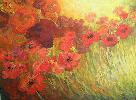 abstract  poppies by Hydrangeas