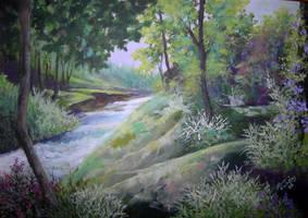 GREEN FIELDS by Hydrangeas
