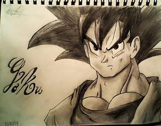 Goku Sketch by 1mew635