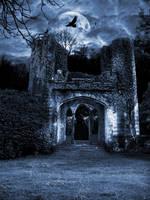 Premade BG Goth Ruin by E-DinaPhotoArt
