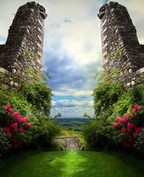 Premade BG The Portal by E-DinaPhotoArt
