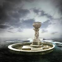 Premade BG Fountain by E-DinaPhotoArt
