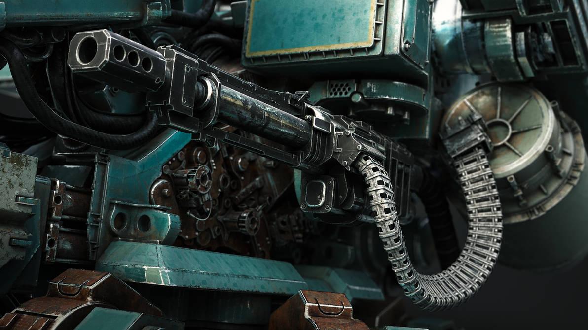 Guncrawler Weapon closeup by Darkki1