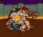 Mario Vs Bowser by SuperTechno324