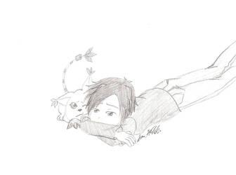 Kouichi and Tailmon '2' by digipinky75910