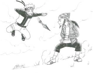 KoEH Kouji + Naruto by digipinky75910