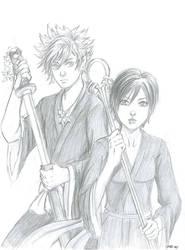 Roxas + Xion as Ichigo + Senna by digipinky75910