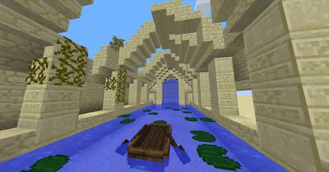 Minecraft Dreamkeepers desert temple by Halfdrake010