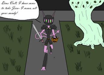 Namah the Black Knight by Halfdrake010