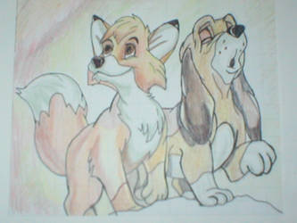 Fox And The Hound by Hideous1984