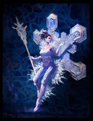 Concept: Snow fairy by Dragos-Stanculescu