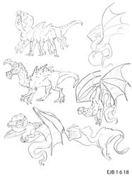 Dragon Sketches by ArtIsEmotion98