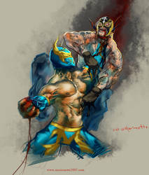 SIN CARA vs 619 by marioneTTe2007