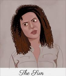 Supernatural Tarot: Cassie Robinson, The Sun by MnesomnesTears