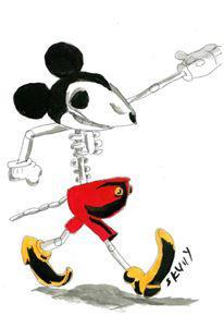 skeleton mickey by spiritguy