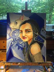 Blue portrait by spiritguy