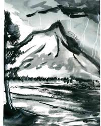 ink landscape by spiritguy