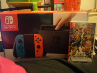 FOR CHRISTMAS I GOT A NINTENDO SWITCH AND SMASH by katieluv2sing18