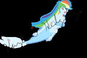 Mermaid Rainbow Dash by kaylathehedgehog