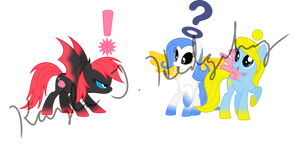 Normal Chao Ponies by kaylathehedgehog