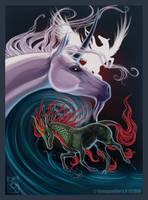 Unicorn-Pegasus-Kirin by shinigamigirl